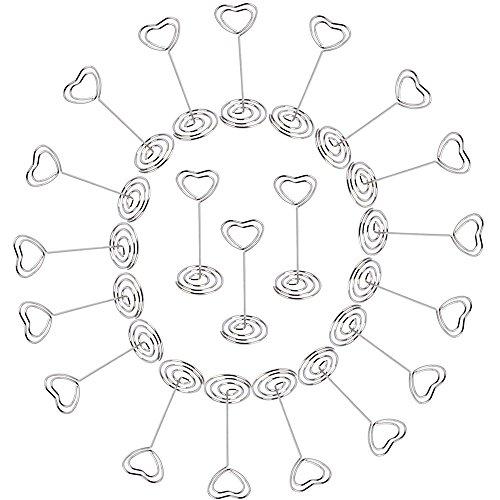 20 pz pinze pinzette con base in metallo forma di cuore come supporto memo clip portafoto fai da te per segnaposto bomboniera matrimonio - aoner