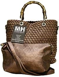 f78ea5b8f68a8 Damen Schultertasche Wende- Strandtasche Zweifarbig Shopper Bag in Bag Leder …