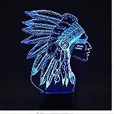 7 couleur changeante nouveauté usb acrylique nuit lumières 3D LED modélisation indienne touche tactile table lit chambre à coucher éclairage de chevet cadeaux