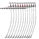 Croch 12 x Angeln Vorfächer Stahlvorfach mit Wirbel Snaps und Perlen 35cm 1 Arm
