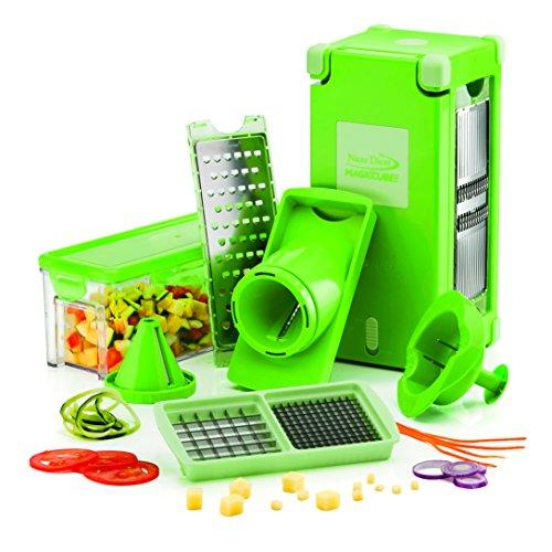 NICER DICER MAGIC CUBE SET DE 12 PIECES Coupez, tranchez et conservez vos fruits et légumes encore plus facilement - Vu à la Télé