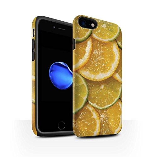 STUFF4 Matte Harten Stoßfest Hülle / Case für Apple iPhone 8 / Wassermelone Muster / Saftige Frucht Kollektion Zitrone & Limette