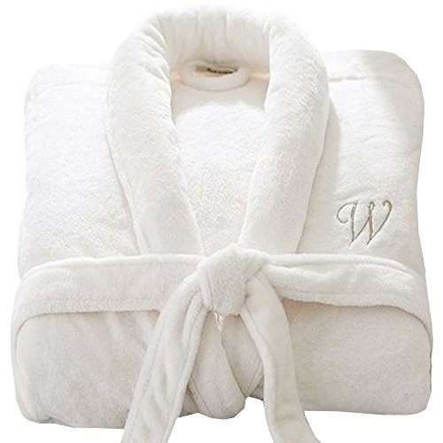 - 51nCBdvLZvL - Personalised Bathrobe custom with YOUR TEXT Embroidery on LUXURY VELOUR 100% COTTON Terry Towel Bathrobes, personalised terry bath robe, cotton personalised bathrobe