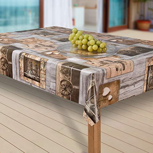 laro Wachstuch-Tischdecke Abwaschbar Garten-Tischdecke Wachstischdecke PVC Plastik-Tischdecken Outdoor Eckig Meterware Wetterfest Wasserabweisend Abwischbar |11|, Größe:80x80 cm