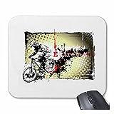 Mousepad (Mauspad) Mountainbike Fahrrad Mountainbike FAHRRADREPARATUR RADRENNSPORT FAHRRADTOUR BIKESHIRT Ride für ihren Laptop, Notebook oder Internet PC (mit Windows Linux usw.) in Weiß