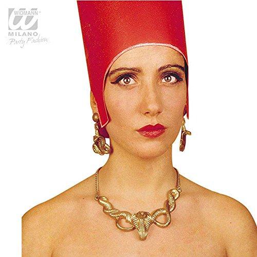 Ohrringe Kostüm Cleopatra Schlange - WIDMANN Cleopatra Schmuckset für Kostüme