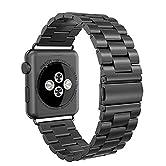 Einführungen:Swees Edelstahl Replacement Wrist Strap Band Uhrenarmband Schlaufe Smart Watch Armbänder mit Metallschließe für Apple Watch 42mm Series 3 / 2 / 1 (apple watch ist nicht enthalten)Eigenschaften:- 100% nagelneu und hohe Qualität- Kompatibe...