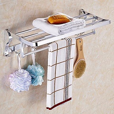 KHSKXMU-Royal baño baño de estilo europeo del espacio plegable de aluminio actividad toallas toallas