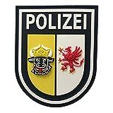 Patch Ärmelabzeichen Polizei Mecklenburg-Vorpommern polizeiblau 3D