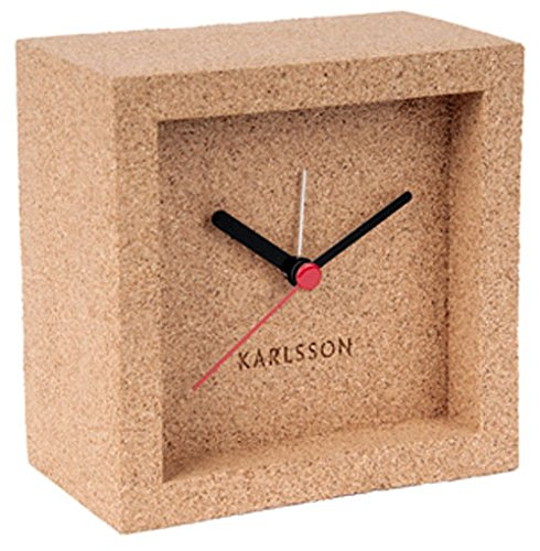 Karlsson KA5684 Wecker - Franky - Kork - 10 x 10 x 5,5 cm
