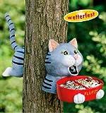 Lustige Vogelfutterstelle FLUFFY - die Katze, zur Befestigung am Baum. Futterstelle Vogeltränke Futterstation