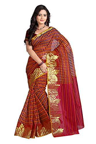Vastrakala Net Zari Saree With Blouse Piece (Msm-10 -Maroon)