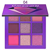 IFOUNDYOU Fard à PaupièRes Cosmetic Matte Eyeshadow Cream Makeup Palette Shimmer Set 9 Colors Eyeshadow...