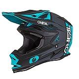O'Neal 7Series Strain Motocross Helm MX Offroad Enduro Quad Cross Trail Motorrad, 0583, Farbe Petrol, Größe M