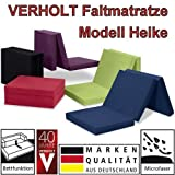Klappmatratze Faltmatratze Verholt Heike schwarz - Made IN Germany - als Gästebett/Gästematratze / Klappbett einsetzbar