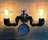 RSQJ Europäisches Retro- Wasserleitungswandleuchte Restaurantbar-Wandlampen-Flurlicht (Size : 60 * 340 * 210mm)