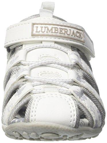 Lumberjack Mädchen Linda Pumps Bianco (White/Silver)