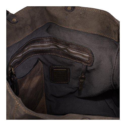 40 cm Rivet Shopper Tasca Tasche Campomaggi Grigio Laser 87CXAqx