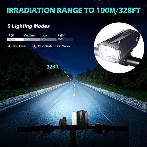 Zoom IMG-1 omeril luci led per bicicletta
