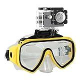 #9: Jo Jo Swimming Scuba Dive Snorkeling Mask GoPro Hero 1 2 3 3 + 4 SJCAM Xiaoyi Xiaomi for Diving - Yellow