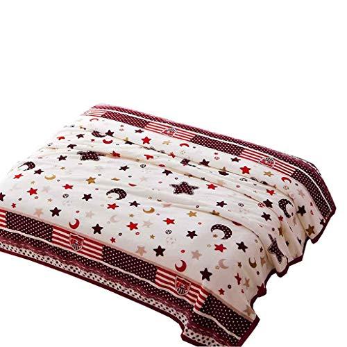 Decken, Doppel Dicke Decken, Freizeit Decken, Schlafdecken, Winter warme Decken, Wolke Samt Dicke Decken. (Color : K, Size : 180cm*200cm(1kg))