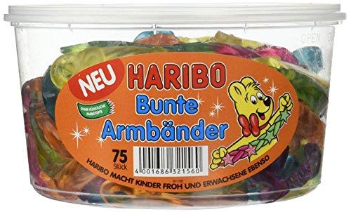 HARIBO Bunte Armbänder, 2er Pack (2 x 75 Stück)