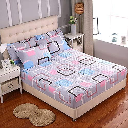 WENXIAOXU Staubdichte Anti-Milben-schoner für Home Schlafzimmer Bettlaken,Der optimale und perfekte bezug für Ihr Bett,Bequemes gestepptes B-6 180 * 200 * 30cm