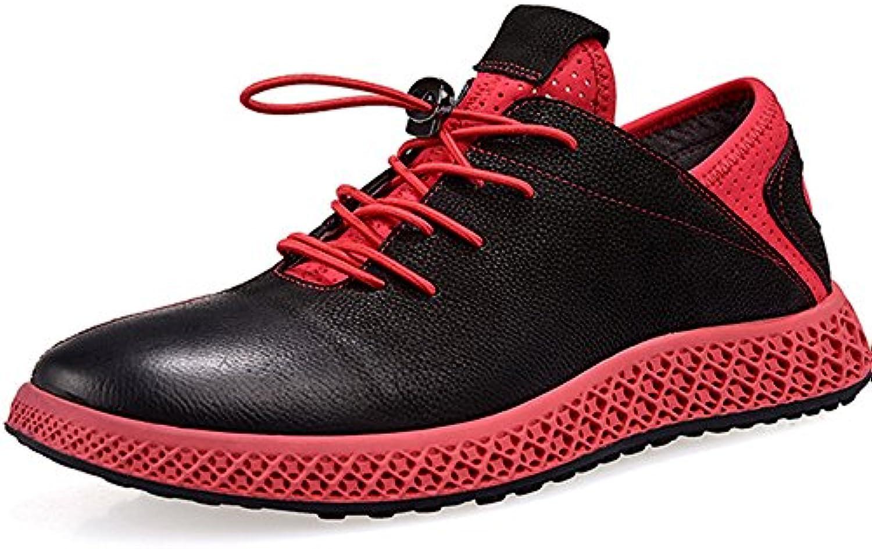 Herrenschuhe Faule Schuhe Trend Herrenschuhe Leder Wilde Sätze Von Füßen Freizeitschuhe Red 42