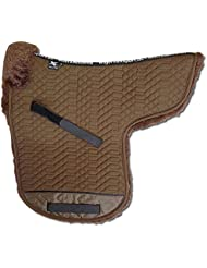 ENGEL GERMANY Tapis de selle en peau de mouton Pony couleur coton marron (Sadek 3 Pony)