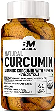 Bigmuscles Nutrition Natural Curcumin Turmeric with Piperine (1000mg Tablet)| 60 Days Supply | Premium Joint &