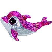 TY - Peluche delfín, 15 cm, color rosa (United Labels 36126TY)