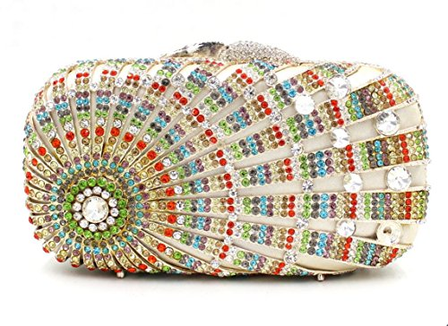 Lady Abendessenbeutel Kristall-Diamant-Diamant-Mappe Brautbeutel Handtasche Bankett-Paket color 5