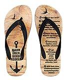 Geschenk fürs Segelboot, Segelschiff & zum Bootsfühererschein 'Mann Über Bord Regeln' - Bootsschuhe von palupas (37/38)