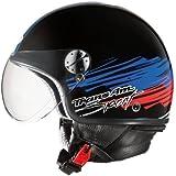 AXO Helm Subway Jet, Schwarz/Blau/Rot (KBR), S