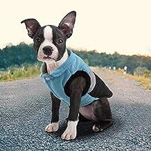 Idepet Mascota Perro Gato Escudo con Correa de Anclaje Color Patchwork Acolchado Cachorro Chaleco Teddy Chaqueta