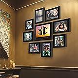 """Ajanta Royal Set Of 9 Individual Photo Frames ( 6- 5""""x7"""", 2- 5""""x5"""", 1- 8""""x10"""" Inch) Black : A-90A"""
