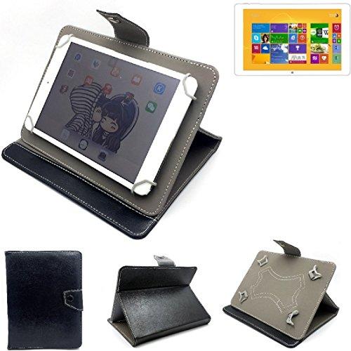 K-S-Trade Schutz Hülle Tablet Case für Kiano Intelect 8.9 MS 3G, schwarz. Tablet Hülle mit Standfunktion Ultra Slim Bookstyle Tasche Kunstleder