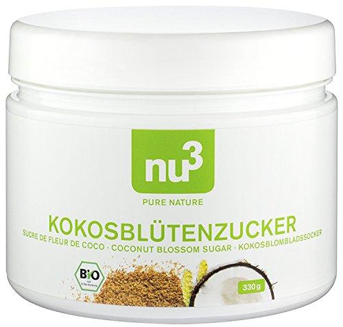 nu3 Bio Kokosblütenzucker, 550g – Auch für Diabetiker; Exotischer brauner Zucker mit niedrigem glykämischen Index; Die gesunde Alternative zum Süßen mit herkömmlichem Zucker; Kein Süßstoff