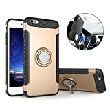 Mosoris Coque iPhone 6S, iPhone 6 Silicone Coque avec Anneau Kickstand avec Support...