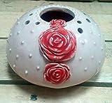 Kleine Keramik Vase, Steckvase,rosa
