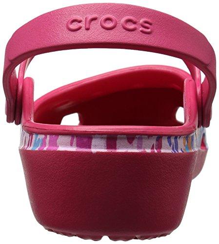 Crocs - Karinfloralclg, Zoccoli Donna Rosso (Raspberry)