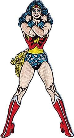 Dc Comics Wonder Woman Cartoon Ecusson thermocollant Motif Sexy Lady Coussin Standing Hero