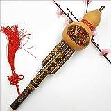 Hulusi chinesische Bambusflöte aus chinesischem Bambus, handgefertigt, Cucurbit, Flöte, Instrument für ethnische Musikinstrumente, C Schlüssel Bb Ton für Musikliebhaber Anfänger Bb Tone