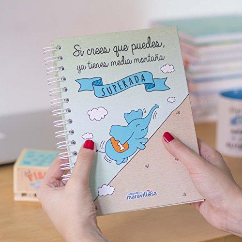 La mente es maravillosa-Cuaderno A5-Regalo para amiga con dibujos-CORREDOR ESP