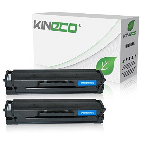 2 Kineco XXL Toner (150{e3c3679905de7766026aaa6655029b87c18997970eff05200b1d64698a72058a} mehr Inhalt!) kompatibel zu Samsung MLT-D111S für Samsung M2026W, M2022W, M2022, M2070W, M2070FW, M2020, M2000 - MLTD111S/ELS Schwarz je 2.500 Seiten