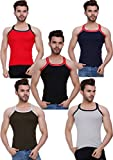 #9: HAP KINGS RIB MENS GYM VEST MULTICOLOR PACK WITH PIPIN (PACK OF 5)