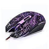 Winnes Wrangler Gaming Mouse ottico con cavo USB mouse 2400DPI 4 livelli di regolazione retroilluminato crack Colorful mouse programma 6 pulsanti