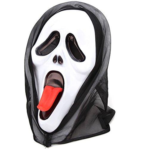 Careta Scream de plástico con Lengua y capucha