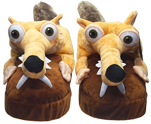 Ice Age Collision Course Slippers Scrat Size 32-34 ICAG Calzature
