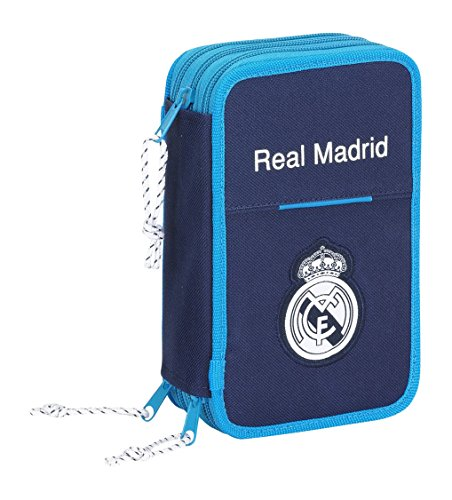 Real Madrid – Plumier Triple, 41 Piezas, Color Azul (SAFTA 411657057)